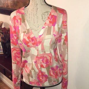 Beautiful Silk & Cotton Cardigan by LIZ CLAIBORNE